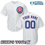 Chicago Cubs Replica Personalized Youth Home Jersey