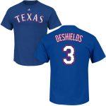 Delino DeShields T-Shirt – Blue Texas Rangers Adult T-Shirt