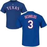 Delino DeShields Youth T-Shirt – Blue Texas Rangers Kids T-Shirt