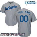 LA Dodgers Replica Personalized Road Jersey
