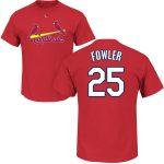 Dexter Fowler T-Shirt – Red St Louis Cardinals Adult T-Shirt