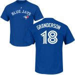 Curtis Granderson Youth T-Shirt – Blue Toronto Blue Jays Kids T-Shirt