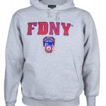 FDNY Embroidered Ash Hooded Sweatshirt