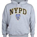 NYPD Embroidered Ash Hooded Sweatshirt