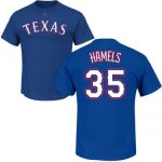 Cole Hamels T-Shirt – Blue Texas Rangers Adult T-Shirt