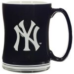 Yankees Raised Logo Navy Mug