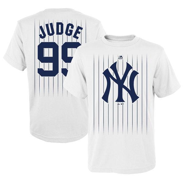 big sale 08c45 65652 NY Yankees Pinstripe Aaron Judge Youth T- Shirt | NYC ...