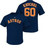 Dallas Keuchel T-Shirt – Navy Blue Houston Astros Adult T-Shirt