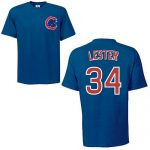 Jon Lester T-Shirt – Navy Chicago Cubs Adult T-Shirt