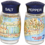 NYC MTA Subway Map Salt & Pepper Shakers