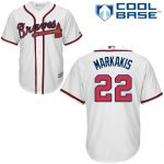 Nick Markakis Youth Jersey – Atlanta Braves Replica Kids Home Jersey