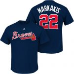 Nick Markakis T-Shirt – Navy Atlanta Braves Adult T-Shirt