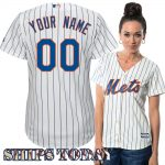 NY Mets Replica Personalized Ladies Home Jersey