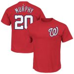 Daniel Murphy T-Shirt – Red Washington Nationals Adult T-Shirt