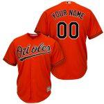 Baltimore Orioles Replica Personalized Orange Alt Jersey