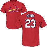 Marcell Ozuna T-Shirt – Red St Louis Cardinals Adult T-Shirt