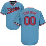 Minnesota Twins Cooperstown Personalized Lt Blue Jersey