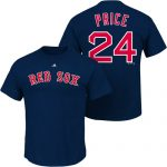 David Price T-Shirt – Navy Boston Red Sox Adult T-Shirt