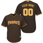 San Diego Padres Replica Personalized Brown Alt Jersey