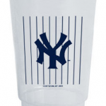 NY Yankees Pinstripe Plastic Cup