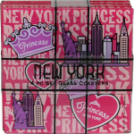 NYC Princess 4pc Set Glass Coasters
