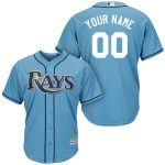 Tampa Bay Rays Replica Personalized Lt Blue Jersey