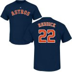 Josh Reddick T-Shirt – Navy Houston Astros Adult T-Shirt