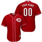 Cincinnati Reds Replica Personalized Red Alt Jersey