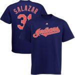 Danny Salazar T-Shirt – Navy Cleveland Indians Adult T-Shirt