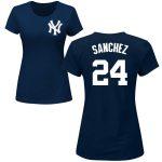 Gary Sanchez Ladies T-Shirt – Navy NY Yankees Womens T-Shirt