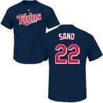 Miguel Sano Youth T-Shirt – Navy Minnesota Twins Kids T-Shirt