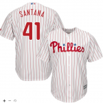 Carlos Santana Jersey – Philadelphia Phillies Replica Adult Home Jersey
