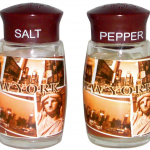 NYC Sepia Picture Icons Salt & Pepper Shakers