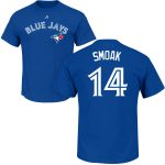 Justin Smoak T-Shirt – Blue Toronto Blue Jays Adult T-Shirt