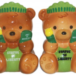 NYC Statue of Liberty Teddy Bear Salt & Pepper Shakers
