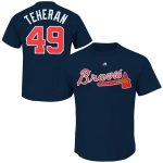 Julio Teheran T-Shirt – Navy Atlanta Braves Adult T-Shirt