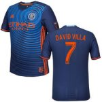 MLS New York City FC David Villa #7 Men's Alternative Replica Soccer Jersey