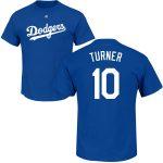 Justin Turner T-Shirt – Blue LA Dodgers Adult T-Shirt