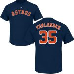Justin Verlander T-Shirt – Navy Houston Astros Adult T-Shirt