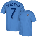 David Villa Blue Adult T-Shirt: NYCFC