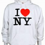 White I Love NY Embroidered Sweatshirt