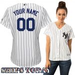 NY Yankees Replica Personalized Ladies Home Jersey