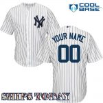 NY Yankees Replica Personalized Home Jersey